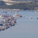 Metkovic,09.09.2012 - Akcija Bilo naroda-gradimo most ladjama i brodicama spojila kopno i Peljesac